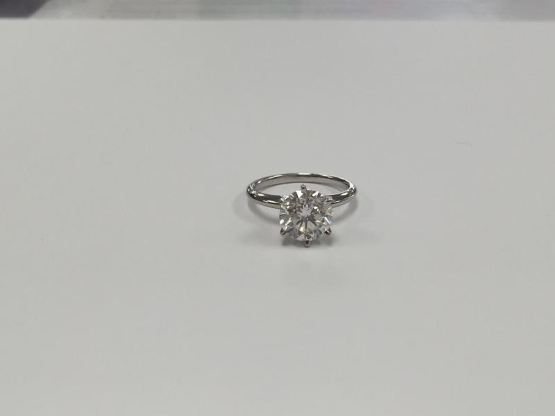 Lady's Platinum-Diamond Solitaire 3.06 CT. 950 Platinum 5.7g