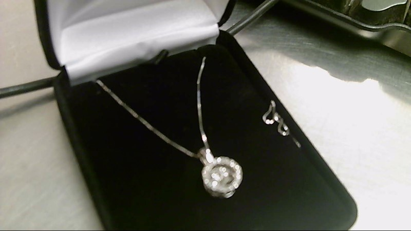 Diamond Necklace 21 Diamonds .40 Carat T.W. 14K White Gold 3.1g