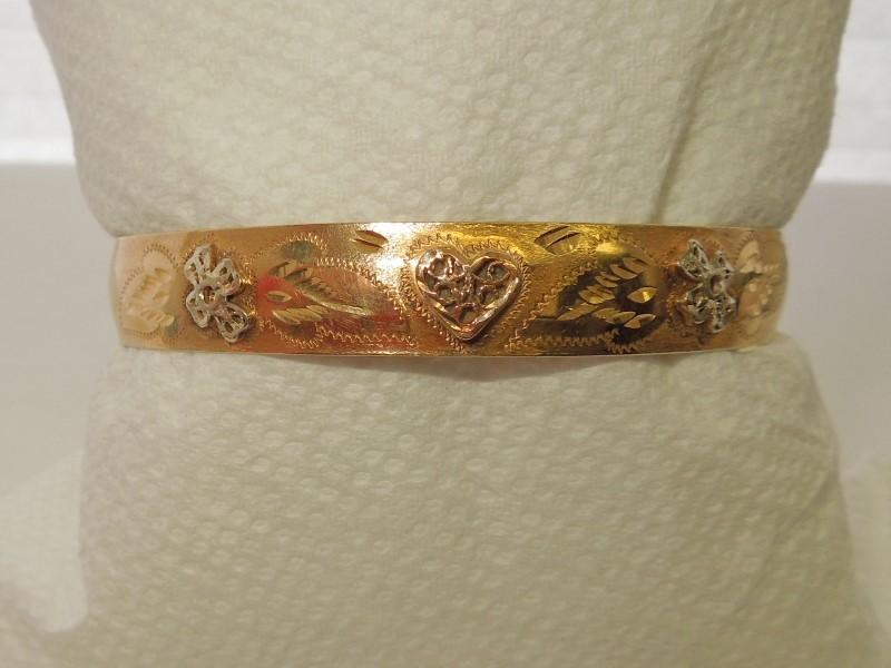 Gold Bracelet 14K Tri-color Gold 10.3g