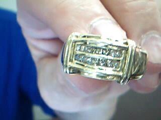 Gent's Diamond Fashion Ring 14 Diamonds .70 Carat T.W. 10K Yellow Gold 10g