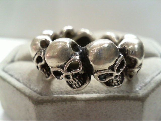 Gent's Silver Skull Band 925 Silver 13.8g