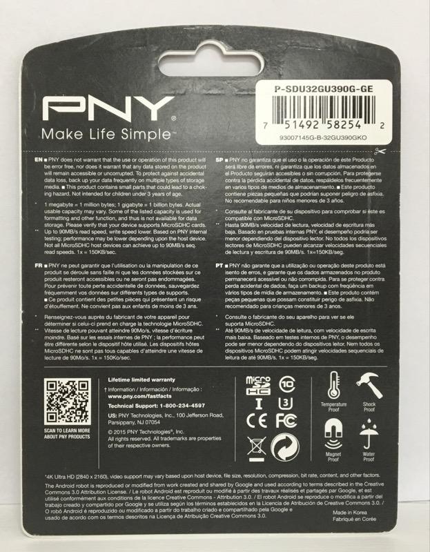PNY 32GB MICRO SDHC CARD