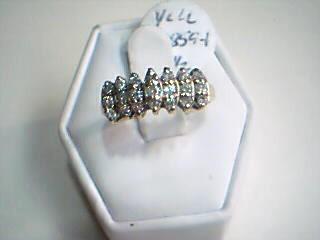 Lady's Diamond Cluster Ring 21 Diamonds .77 Carat T.W. 10K Yellow Gold 2.5g