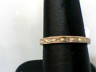 Lady's Gold Wedding Band 10K Yellow Gold 0.7dwt Size:6.5