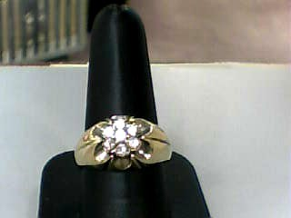 Gent's Diamond Cluster Ring 7 Diamonds .42 Carat T.W. 14K Yellow Gold 4.1dwt