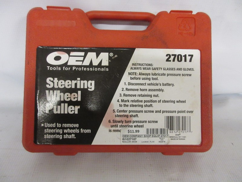 OEM Steering Wheel Puller Set, Model 27017