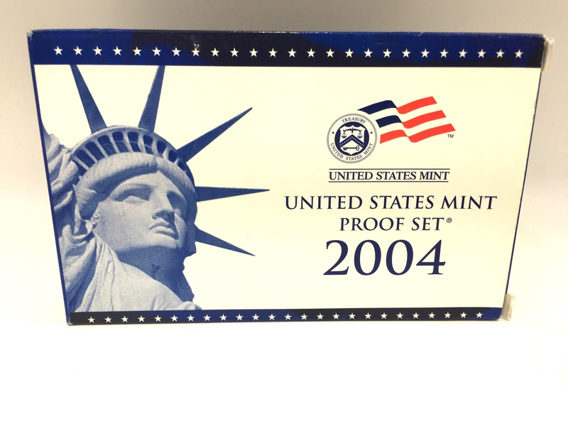 2004 United States Mint Proof Set - 11 Coins - With Box & COA