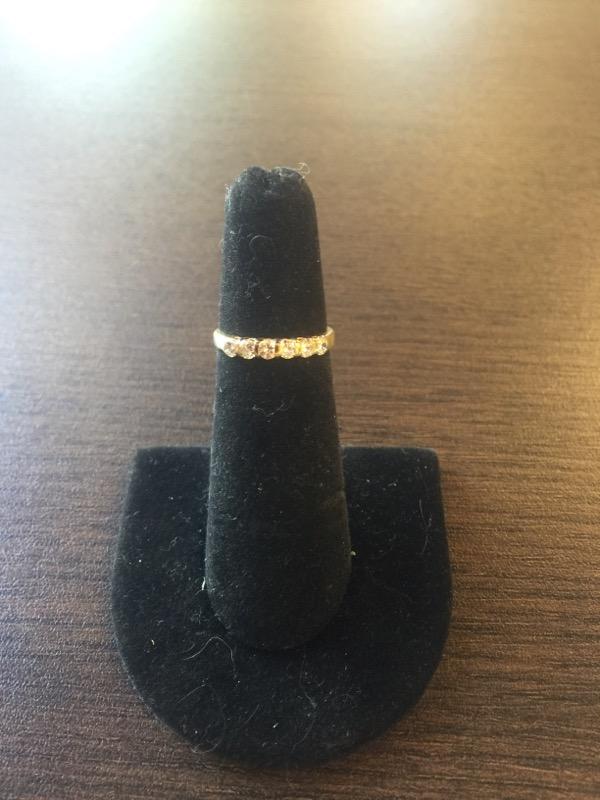 Lady's Gold-Diamond Anniversary Ring 6 Diamonds .36 Carat T.W. 18K Yellow Gold