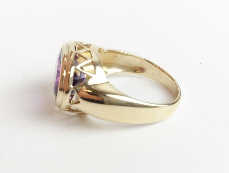Amethyst 14K Yellow Gold 5.21g Ring