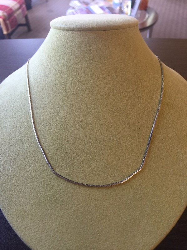 "24"" Gold Fine Chain 14K White Gold 6.1g"