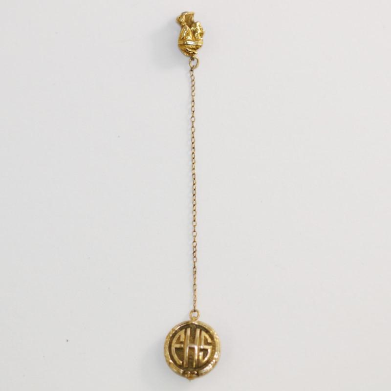 Antique 10K Gold Brooch  Fred. VA High School 1932