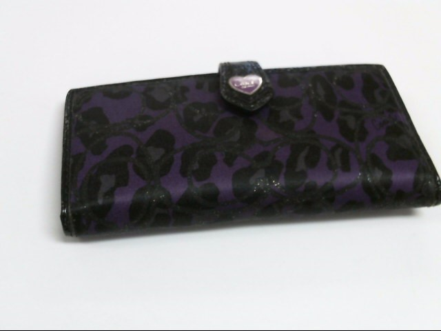 COACH Wallet PURPLE CHEETAH WALLET
