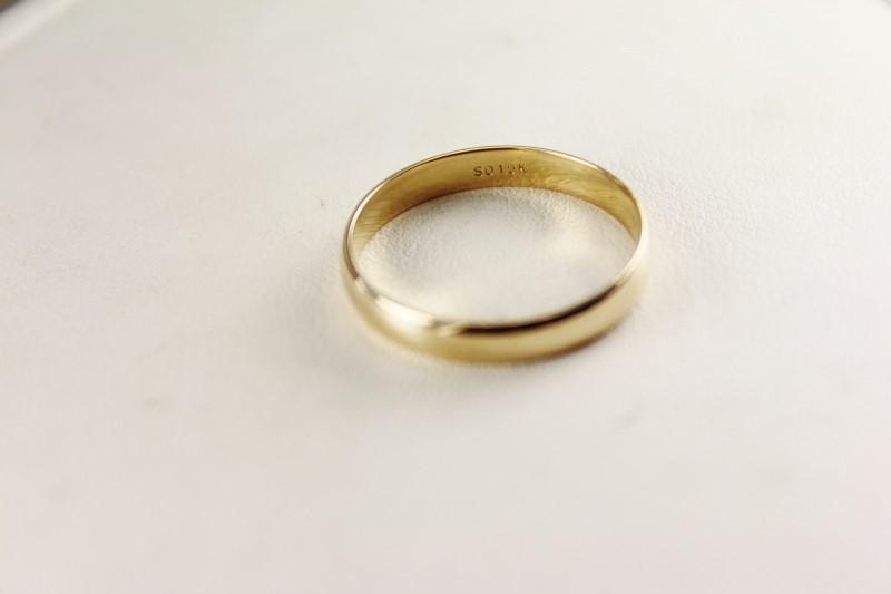 10K YG WEDDING BAND 3.2MM SZ.10