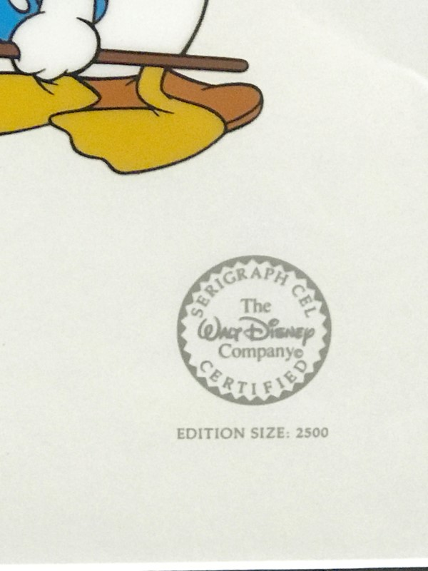 DISNEY LONESOME GHOSTS SERIGRAPH CEL
