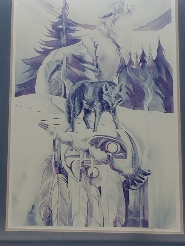 JODY BERGSMA Print CEREMONY FOR BLACK WOLF