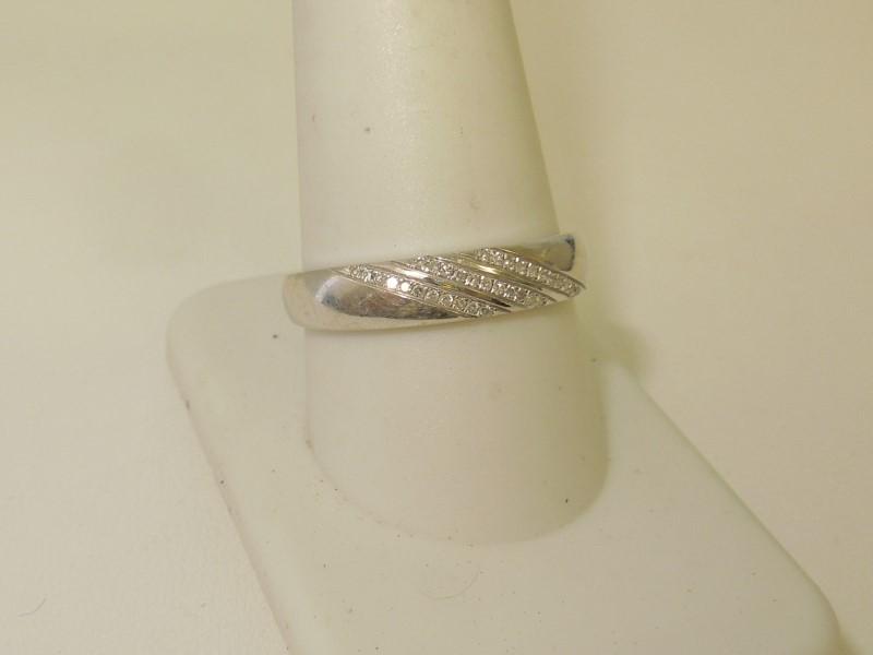 Gent's Diamond Fashion Ring 33 Diamonds .165 Carat T.W. 10K White Gold 1.9g
