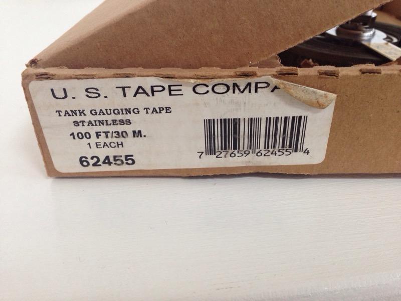 U.S. TAPE CO 62455 TANK GAUGING TAPE 100'/30M