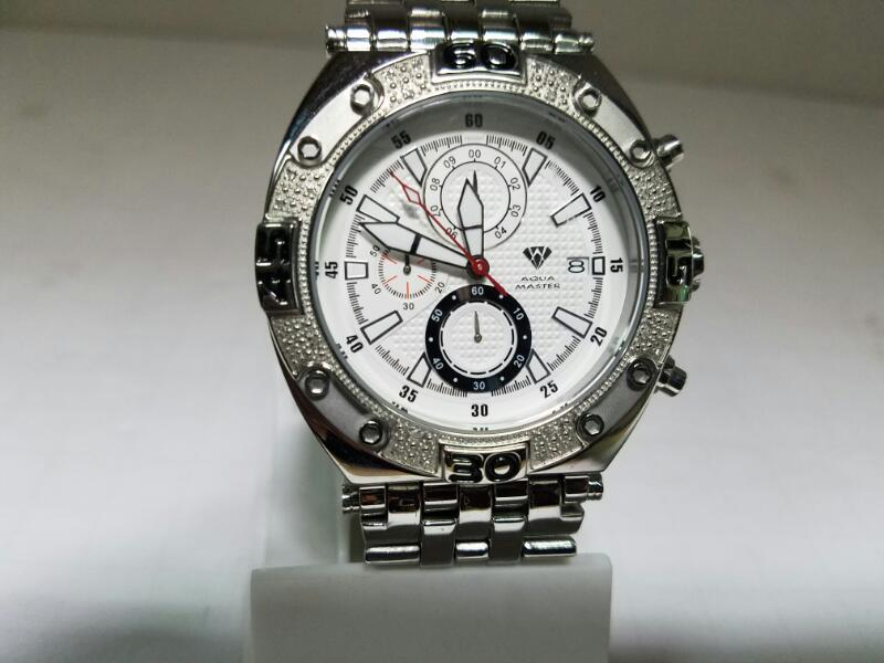 AQUA_MASTER PROFESSIONAL_CHRONOGRAPH WATCH    STAINLESS