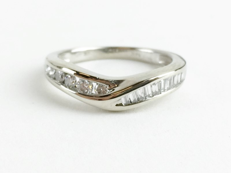 Diamond Ring 14 Diamonds .52 Carat T.W. 14K White Gold 2.39g