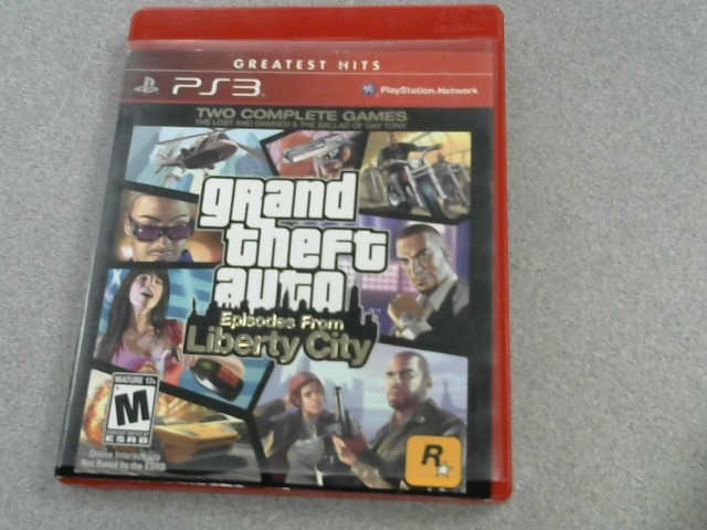 SONY Sony PlayStation 3 Game GRAND THEFT AUTO EPISODES FROM LIBERTY CITY