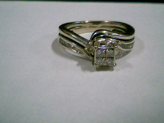 Lady's Diamond Wedding Set 16 Diamonds .48 Carat T.W. 10K Yellow Gold 4.2g