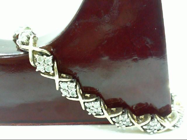 Gold-Diamond Bracelet 72 Diamonds 2.16 Carat T.W. 14K 2 Tone Gold 17.8g