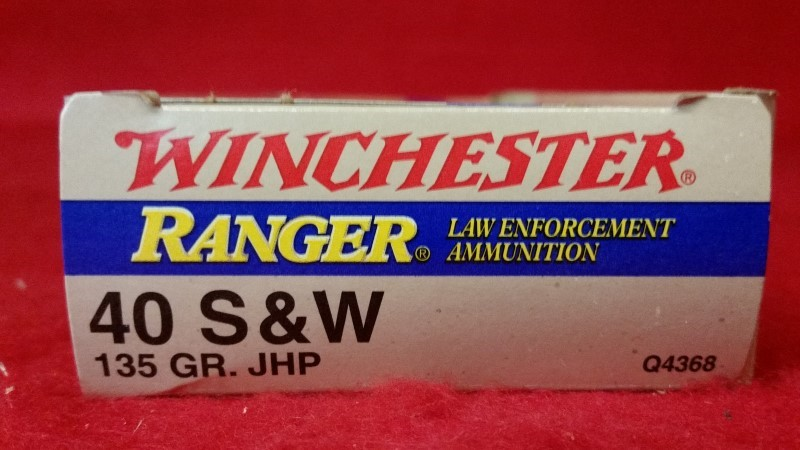 Winchester 40 S&W 135gr JHP Law Enforcement Ammo - 50rd Box