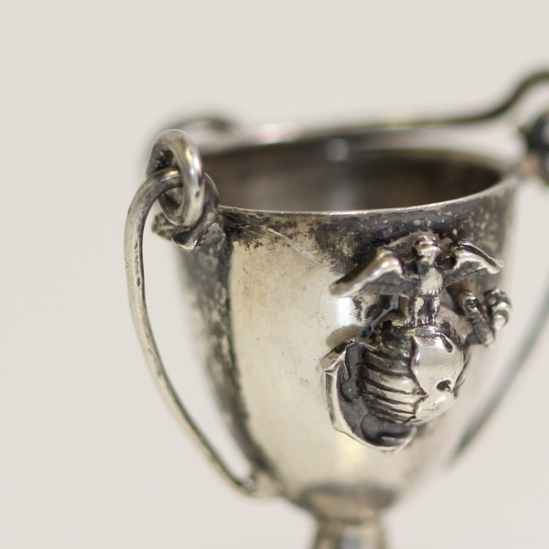 Marine Corps Cup Charm 925 Sterling Silver