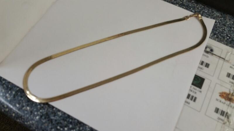 "10K-Y/G 23"" Herringbone Chain"