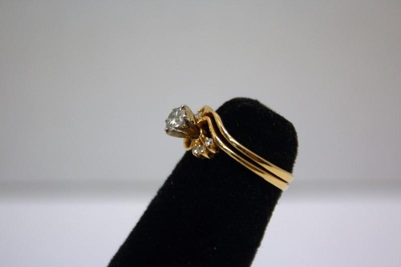 Lady's Diamond Wedding Set 7 Diamonds .38 Carat T.W. 10K Yellow Gold 2.6g