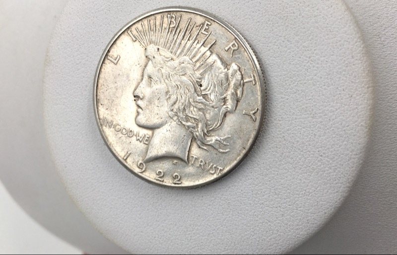 1922 S United States Silver Peace Dollar