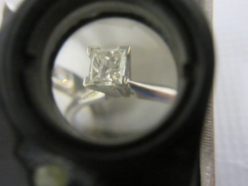 Lady's Diamond Fashion Ring 9 Diamonds 1.14 Carat T.W. 14K White Gold 4.96g