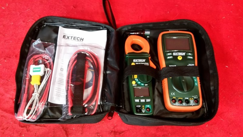 Extech 6 Piece Electrical Test Equipment Combo Kit 600 VDC/750 VAC Max. TK430