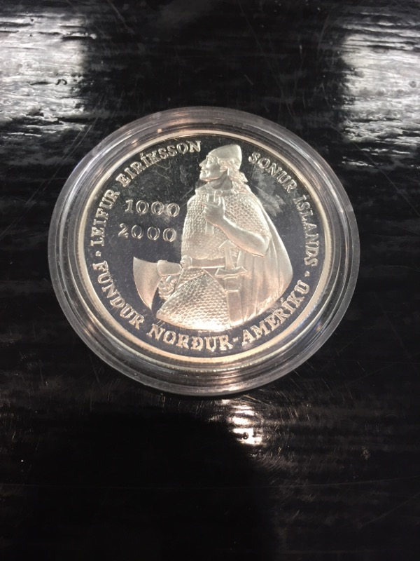 UNITED STATES Silver Coin LEIF ERICSON MILLENNIUM COMMEMORATIVE COIN