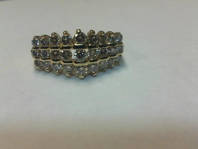 Lady's Gold-Diamond Anniversary Ring 27 Diamonds 1.08 Carat T.W.