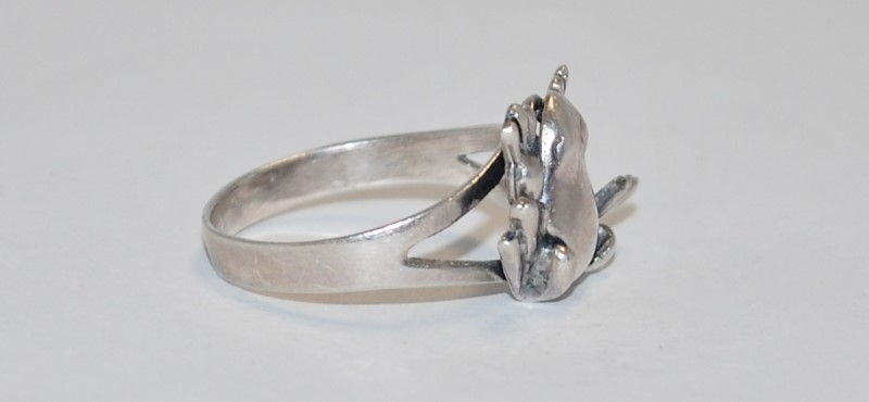 Women's Sterling Silver Leap Frog Ring Size 7