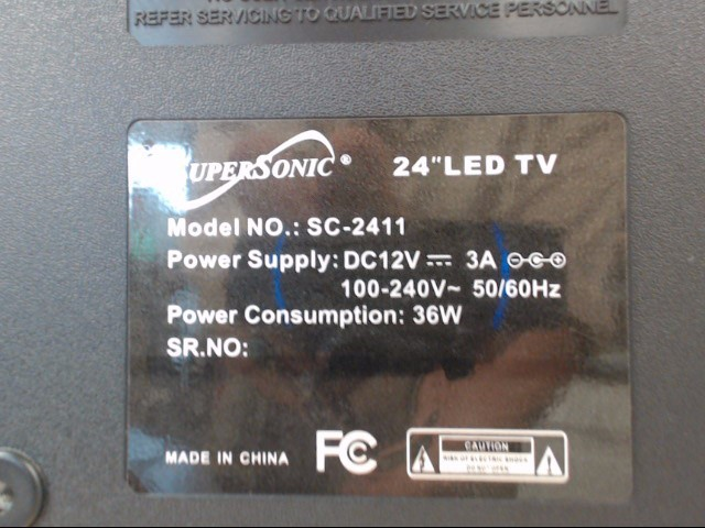 SUPER SONIC Flat Panel Television SC-2411