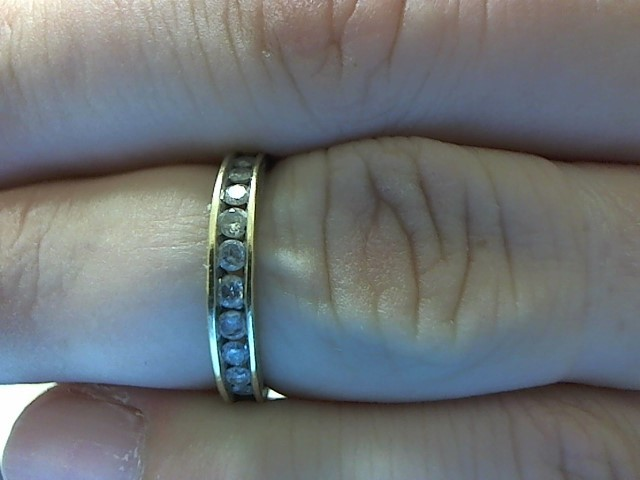 Lady's Gold-Diamond Anniversary Ring 14 Diamonds .28 Carat T.W. 10K Yellow Gold