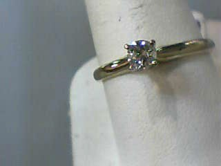 Lady's Diamond Solitaire Ring .28 CT. 14K Yellow Gold 1.4dwt