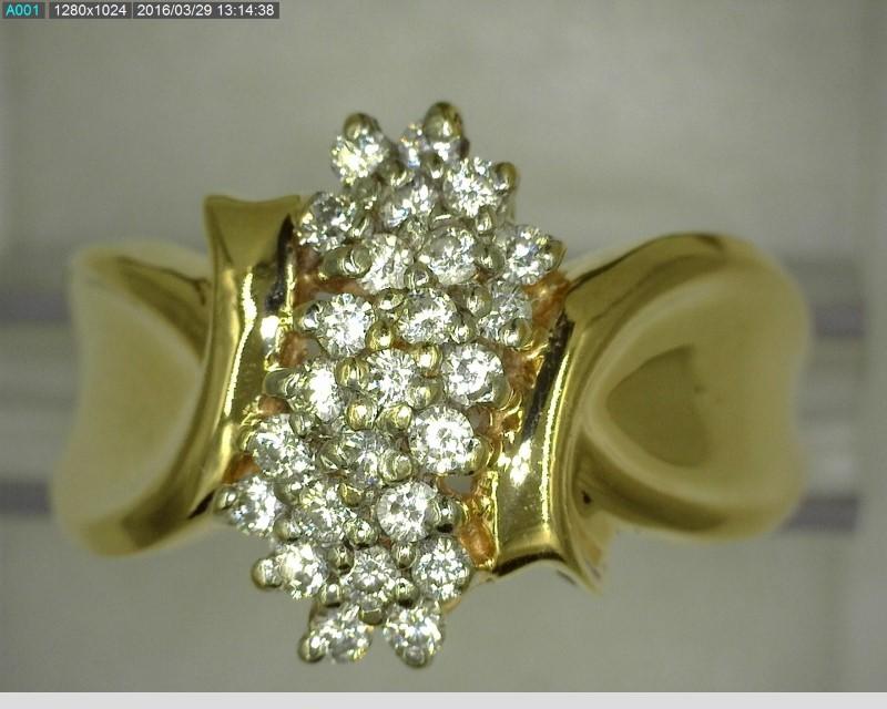 10K DIAMOND CLUSTER APX.25C.T.W 4.4G SZ.7