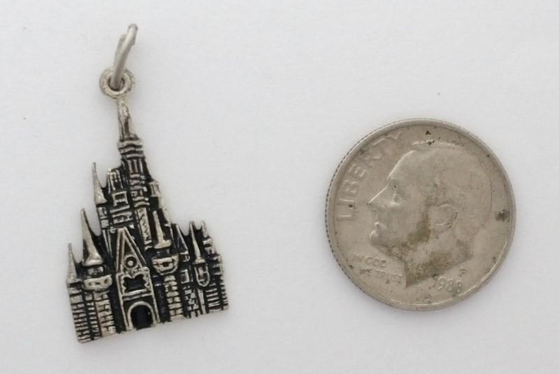 Sterling Silver Walt Disney Productions Cinderella's Castle Dangle Charm