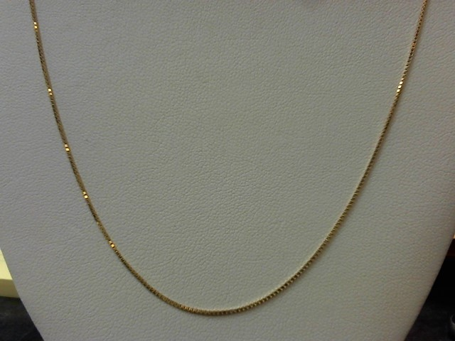 "30"" Gold Box Chain 14K Yellow Gold 3.4g"