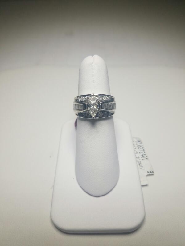DIAMOND  WEDDING SET L'S 14KT DIAMOND  5.3_DWT/WG