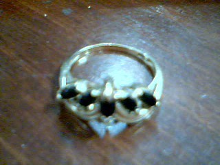 Blue Stone Lady's Stone Ring 10K Yellow Gold 2.49g