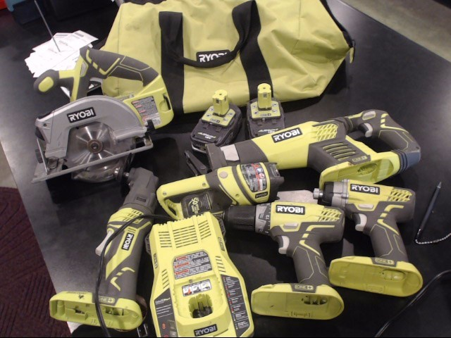 RYOBI Combination Tool Set cordless TOOL SET