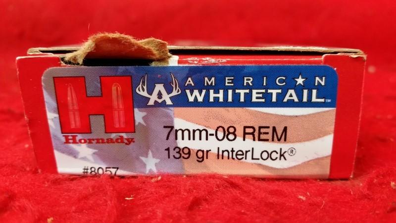Hornady 7mm-08 139gr InterLock American Whitetail