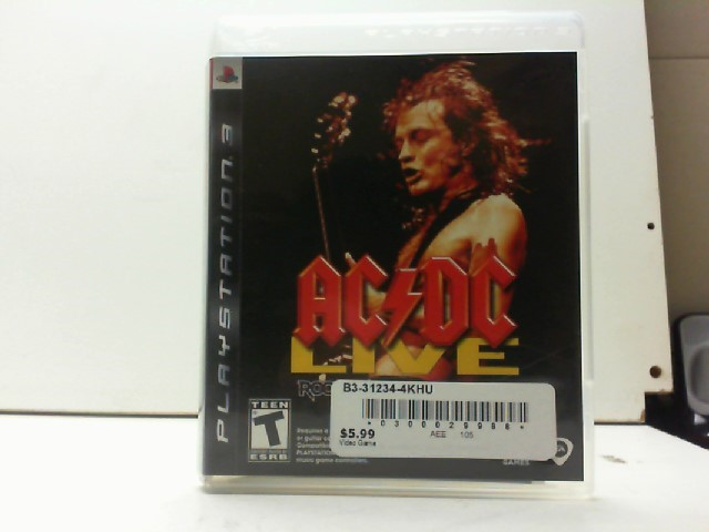 SONY Sony PlayStation 3 Game ACDC LIVE ROCKBAND TRACK PACK