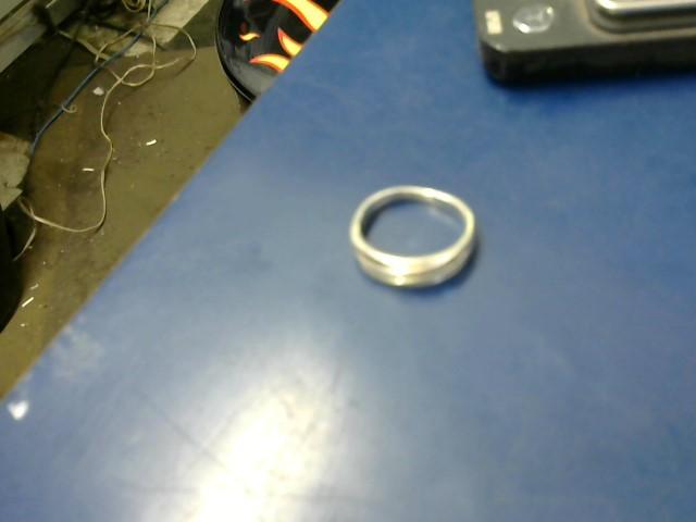 Gent's Silver-Diamond Ring 11 Diamonds .11 Carat T.W. 925 Silver 5.36g
