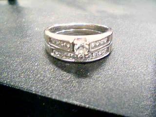 Lady's Diamond Wedding Band 18 Diamonds 1.00 Carat T.W. 14K White Gold 6.6g