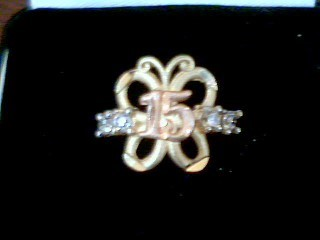 Lady's Gold Ring 14K Tri-color Gold 1.7g